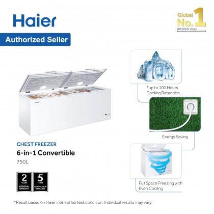 Haier 750L Chest Freezer Convertible (Freezer <> Fridge) BD-788HP