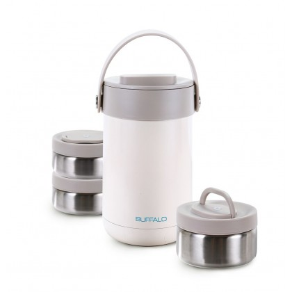 Buffalo 3 Layer Stainless Steel Vacuum Lunch Box SP110