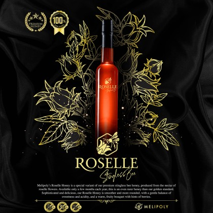 Melipoly 500g Exclusive Premium Roselle Stingless Bee Honey with Gift Box