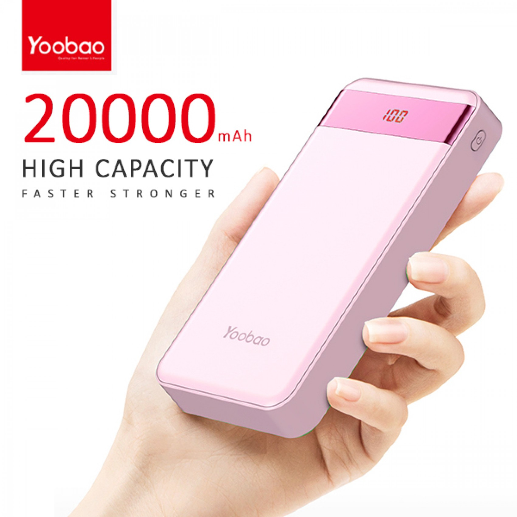 yoobao m20 pro 20000mah dual input led power bank. Black Bedroom Furniture Sets. Home Design Ideas